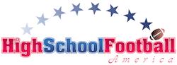 high school football safety: logo of high school football america