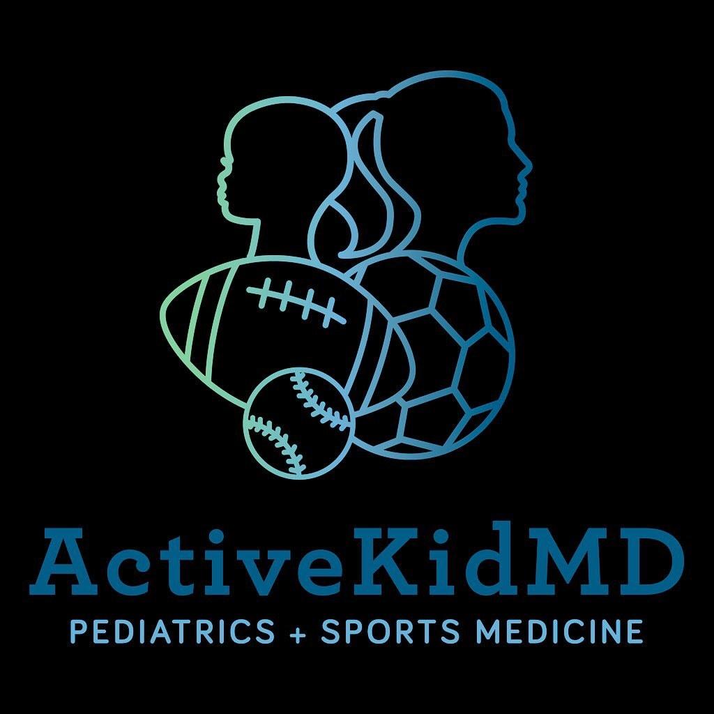Volleyball doctor: logo of ActiveKidMD, proud USA Volleyball team doctor