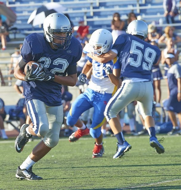 a running back carries the football in a game